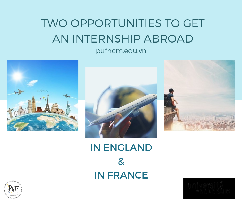 TWO OPPORTUNITIES TO GET AN INTERNSHIP ABROAD